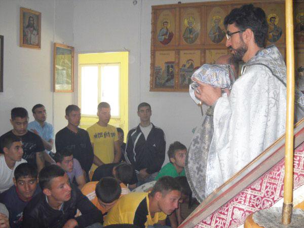Sfânta Liturghie în capela penitenciarului