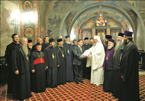 Palatul Patriarhiei din Bucureşti: Acordarea avizului pentru începerea lucrărilor de construire a Catedralei Mântuirii Neamului