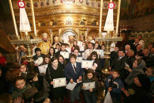 Câştigătorii concursului anual pe teme de religie, premiaţi la Catedrala Arhiepiscopală din Galaţi