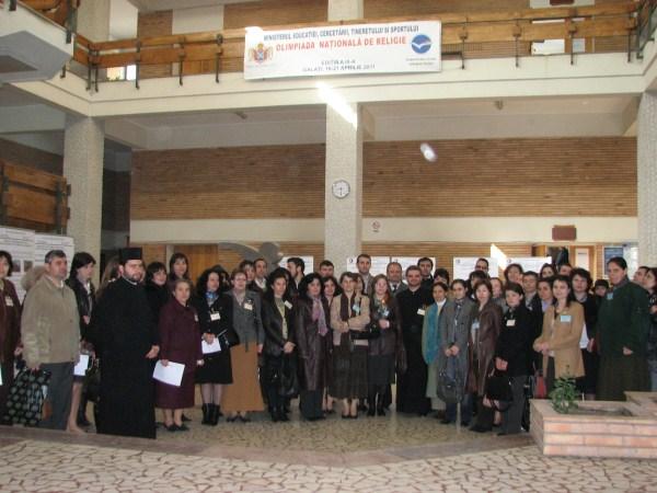 Profesori şi elevi la ora concursului