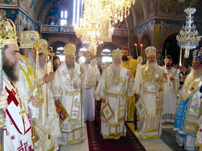 Sobor de arhierei la Sfânta Liturghie