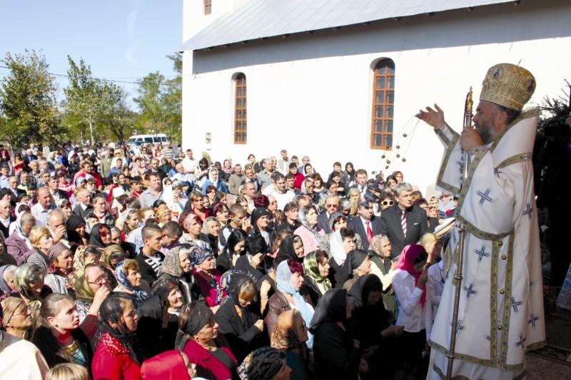 Aspect din timpul Sfintei Liturghii