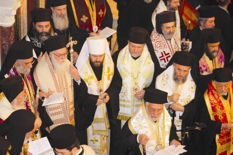 Soborul ierarhilor slujitori la funeraliile Patriarhului Ignatie al IV-lea