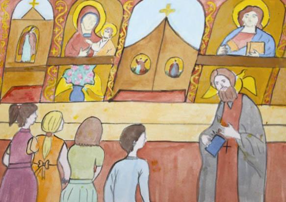 """Desen de Roxana Codreanu - lucrare participantă la etapa eparhială a Concursului naţional ,,Şcoala din pridvorul Bisericii"""""""