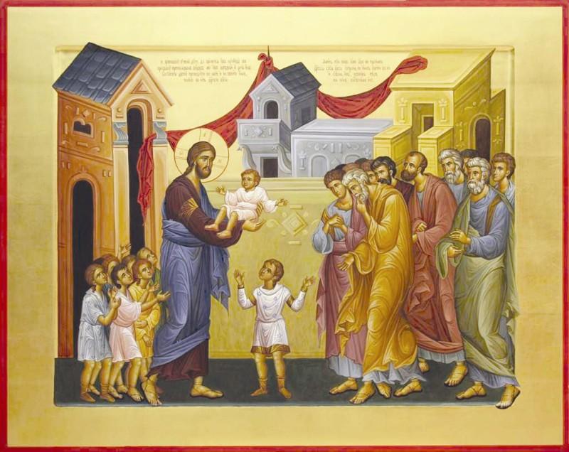 Domnul Iisus Hristos binecuvintează copii