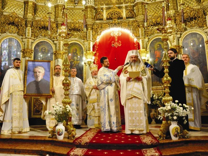 Preafericitul Părinte Daniel, Patriarhul Bisericii Ortodoxe Române proclamând ,,Anul comemorativ al Părintelui Dumitru Stăniloae, în Patriarhia Română