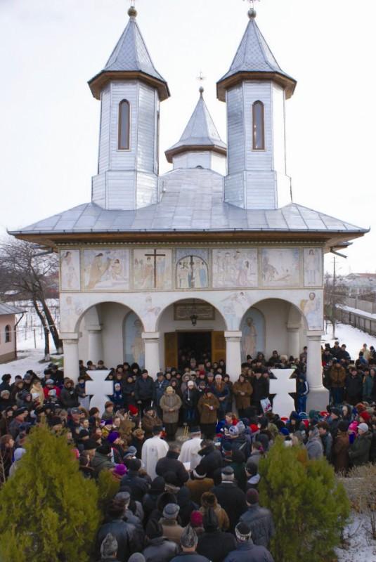 Boboteaza la Biserica din Băleni, judeţul Galaţi