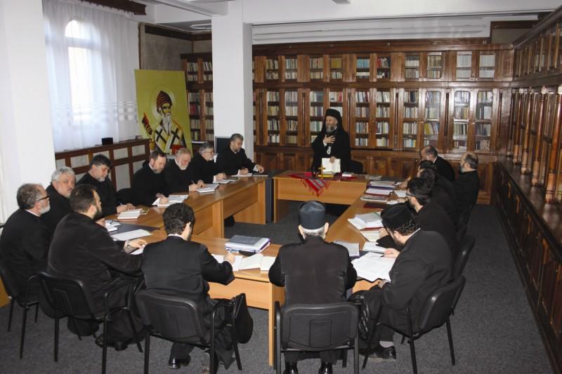 Şedinţa Permanenţei Consiliului Eparhial, cu invitarea părinţilor protopopi din Eparhie