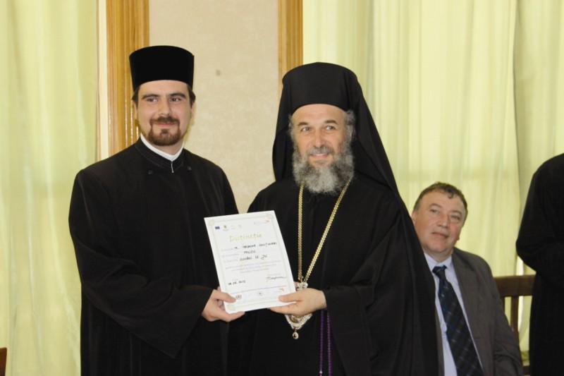 Pc pr. Aurel-Ionuţ Iordache de la Parohia Moscu, unul dintre preoţii premiaţi la festivitate