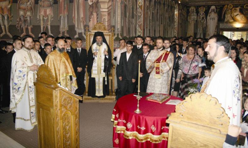 """Te Deum în capela Seminarului Teologic ,,Sf. Ap. Andrei"""", la începutul anului şcolar"""