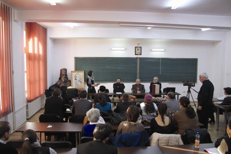 Evocarea lui Eminescu, la Departamentul Teologic al Facultăţii de Istorie, Filosofie şi Teologie din Galaţi