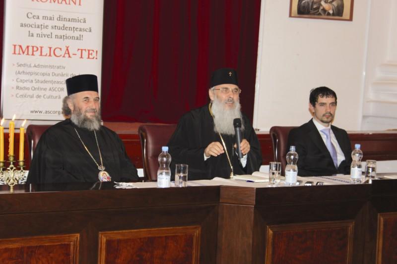18 noiembrie 2012 - ÎPS Mitropolit Serafim Joantă conferenţiind la Galaţi