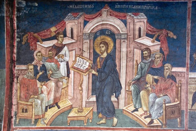 Mântuitorul Hristos predicând
