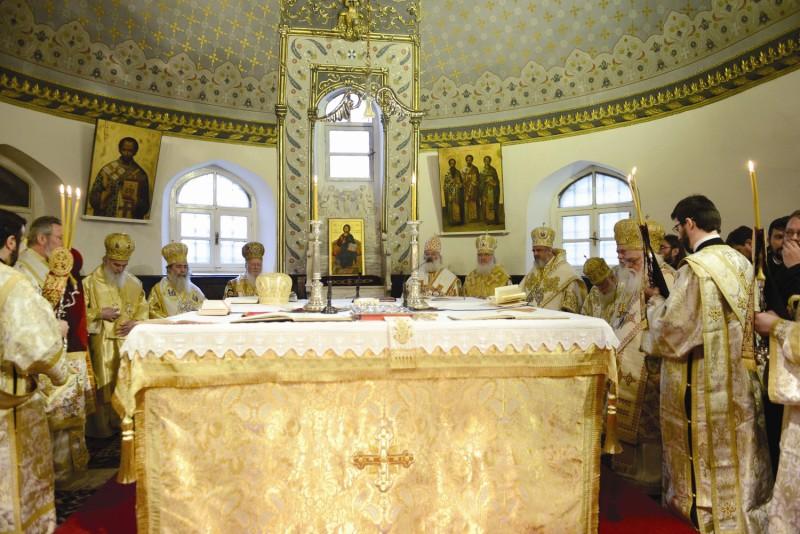 Soborul de ierarhi la Sfânta Liturghie din Duminica Ortodoxiei