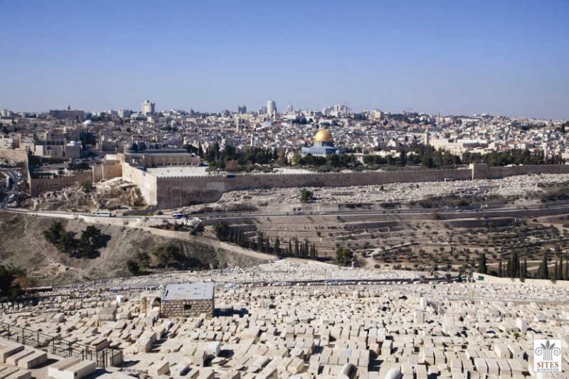 Vedere generală a Ierusalimului, de pe Muntele Măslinilor