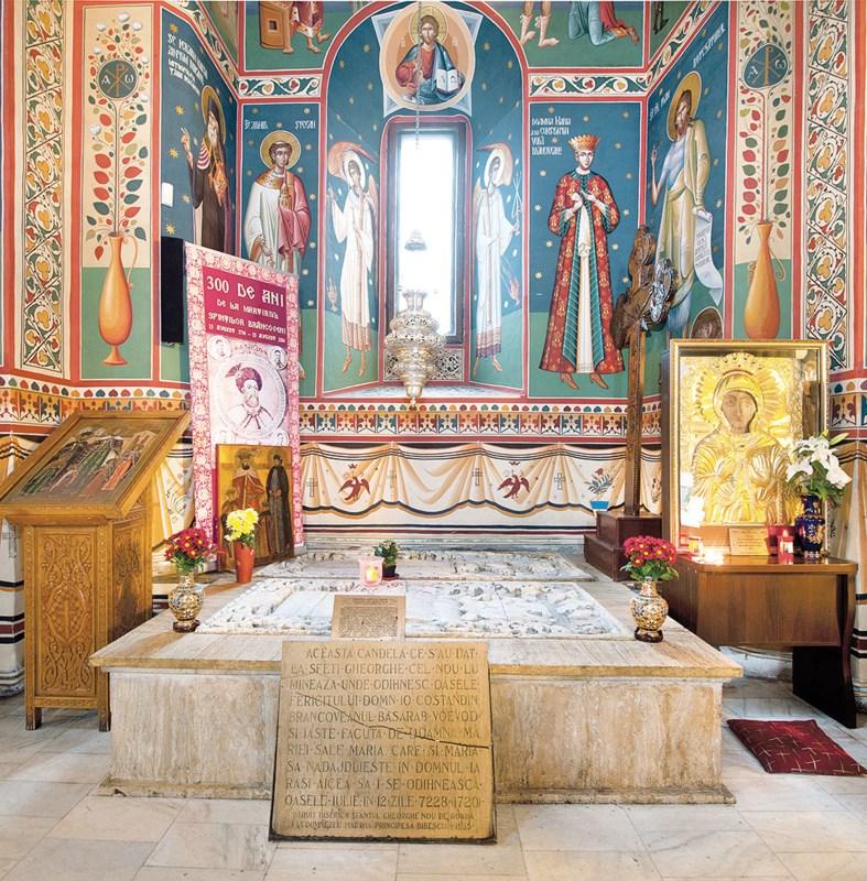 """Biserica ,,Sf. Gheorghe""""- Nou din Bucureşti:  Mormântul Sfântului Constantin Brâncoveanu"""