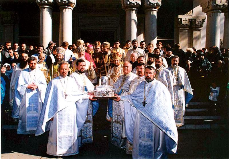 18 octombrie 2002: Aducerea moaştelor Sf. Cuv. Ioan Casian la Galaţi