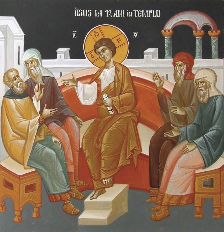 Domnul Hristos învăţând în templu