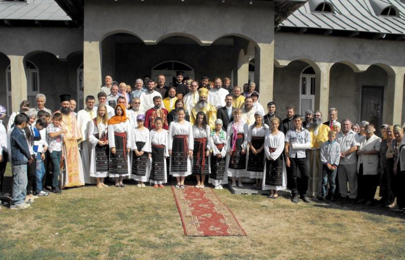 Cinstirea eroilor români în satul Cania, raionul Cantemir din Republica Moldova