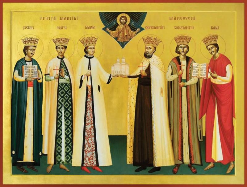Icoana Sfinţilor Brâncoveni (în care este inclusă şi Doamna Maria Brâncoveanu)