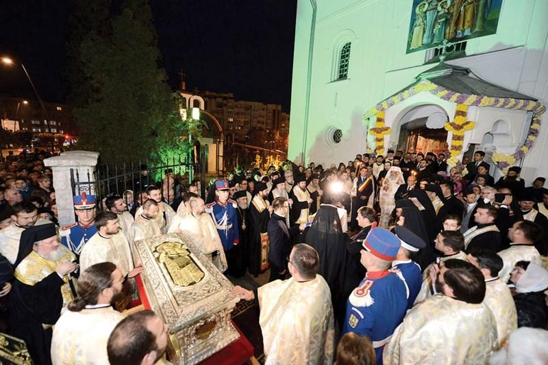 Întâmpinarea moaştelor Sf. Constantin Brâncoveanu la Deva