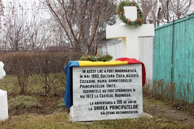 """Locul de înmormântare a mamei Domnitorului Al. I. Cuza din curtea bisericii ,,Vovidenia"""""""